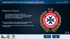 QLD Fire and Emergency Services, interactive training course