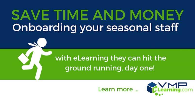 eLearning onboarding for seasonal staff training