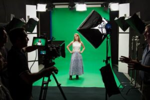 Greenscreen, soundproof film studio Brisbane| VMP eLearning