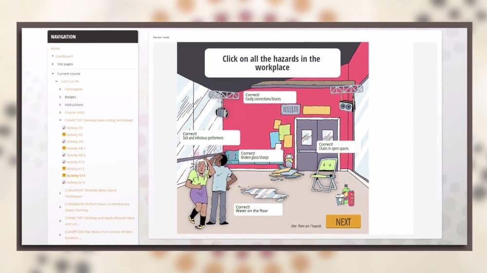 Gamified eLearning course design with animation