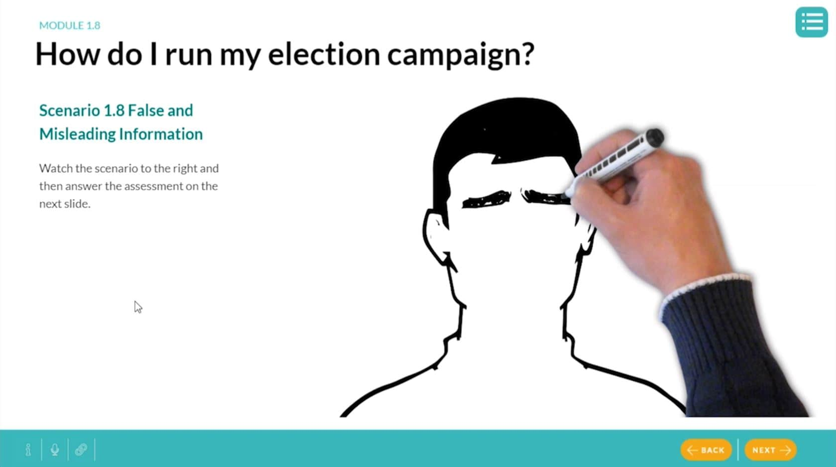 election campaign elearning graphic