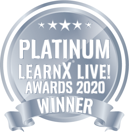 Platinum Learn X Awards Winner Badge - VMP ELearning